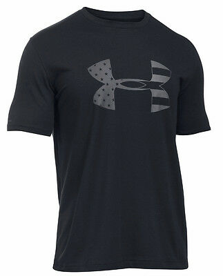 Under Armour Ua Freedom Bfl Tonal American Flag Logo Black T Shirt