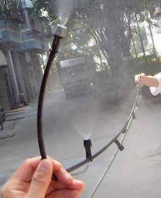 30m/100' watering Misting irrigation System 30nozzle mist sprinkler garden yard