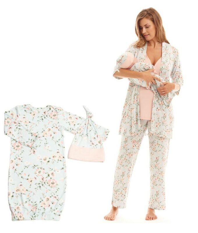 Everly Grey Analise During &After Maternity Nursing Sleepwear 5-Piece Pajama Set