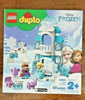 Lego Duplo Disney Frozen Ice Castle 10899 with Light Brick! 3 Minifigs Olaf Elsa