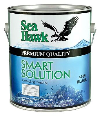 Sea Hawk Smart Solution Metal-Free Bottom Paint, Quart, Green