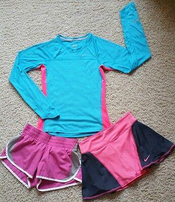 Lot of 3 Women's Nike Dri-Fit/Miler Running Skirt/Skort/Shorts & Shirt SZ XS
