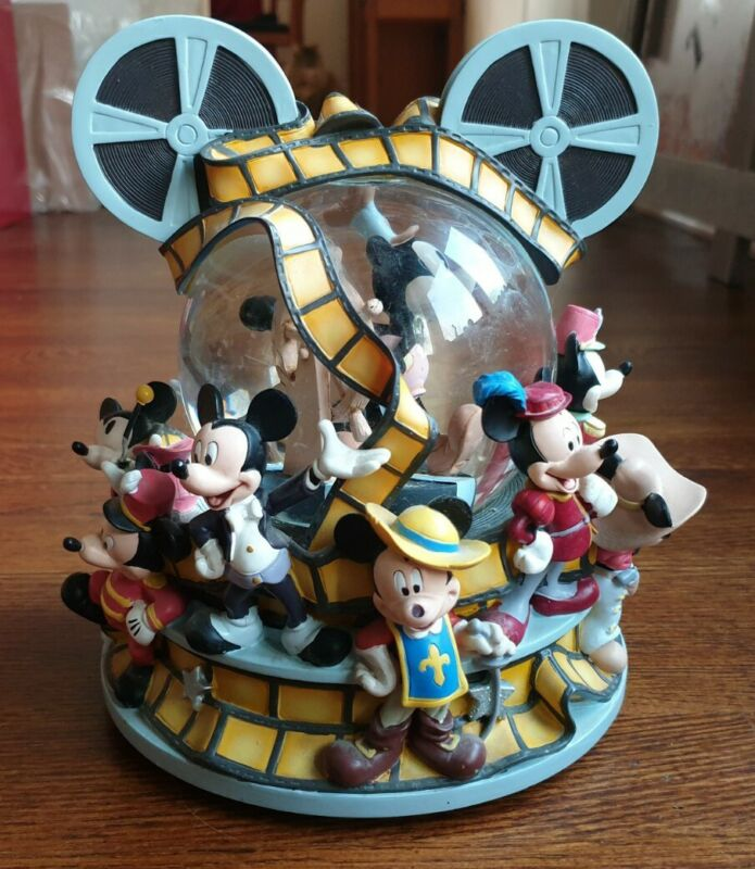 """Disney - Mickey Through the Years """"Mickey Mouse March"""" Musical Snow Globe"""