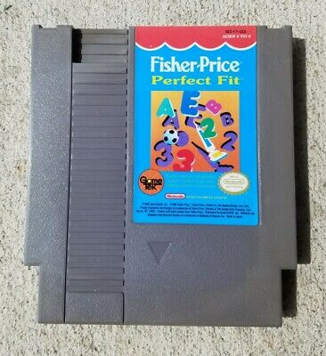 Fisher-Price Perfect Fit, Nintendo NES, Released 1990 Clean / Tested