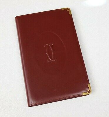 Rare Vintage Cartier Address Book 73184126, soft burgundy leather, flawless