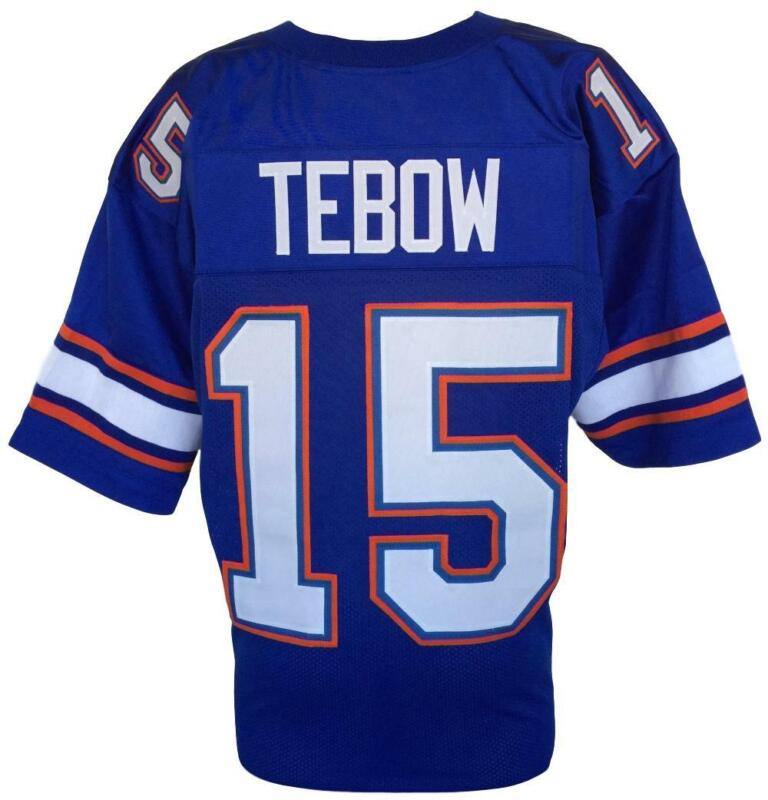 Tim Tebow Custom Blue College Football Jersey Size Large