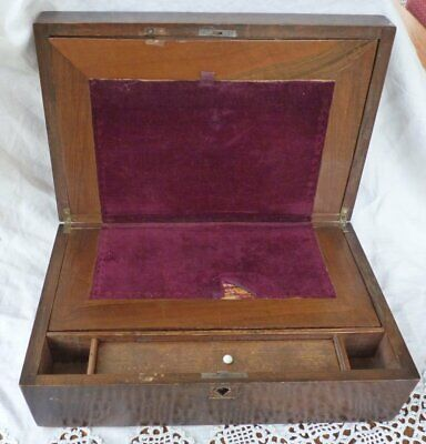 Antique wooden writing box for restoration repair