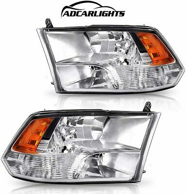 Headlights Fit For 2009-2018 Dodge Ram 1500 2500 3500 Factory Quad Style 09-18