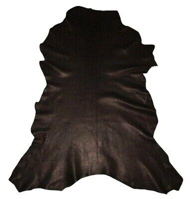 Ultra Premium 3 oz Classic Black Garment Goatskin Leather Hide Soft Goat Skin