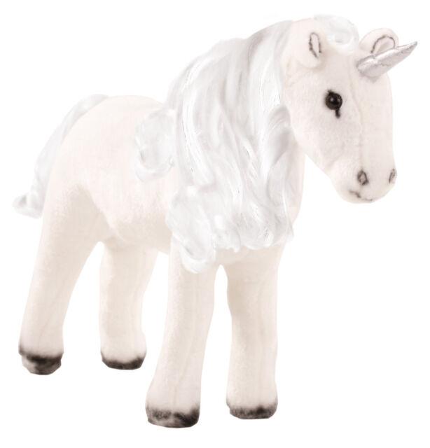 Götz Pferd Einhorn weiß 52cm mit Bürste & Lockenwicklern Pony Plüsch Neu 3402631