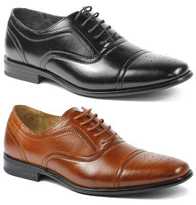 Delli Aldo Men's Lace Up Cap Toe Oxford Dress Shoes w/ Leather lining M-19006