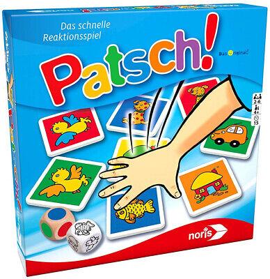 Noris 606013612 Patsch! Kinderspiel Reaktionsspiel 2 bis 6 Spieler ab 4 Jahren ()