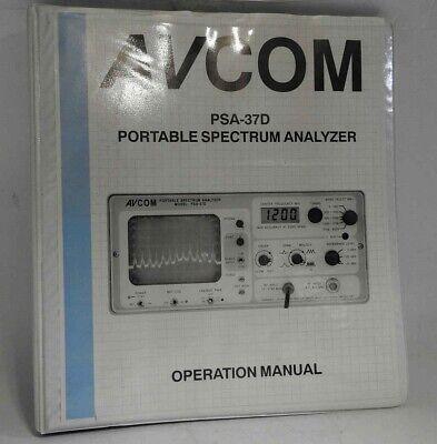 Looks Unused Avcom Psa-37d Portable Wide Range Spectrum Analyzer Original Manual