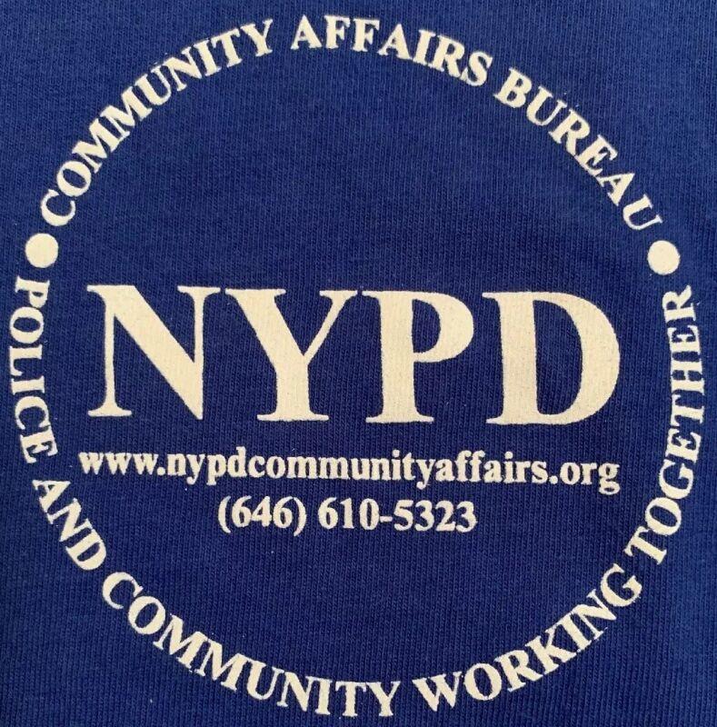 NYPD New York City Police Department NYC T-Shirt Sz XL Community Affairs Bureau