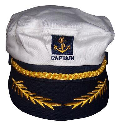 Boat Captain Sailor Yacht Skipper Nautical Anchor Adjustable Caps Hats    7501CW](Boat Captain Hat)