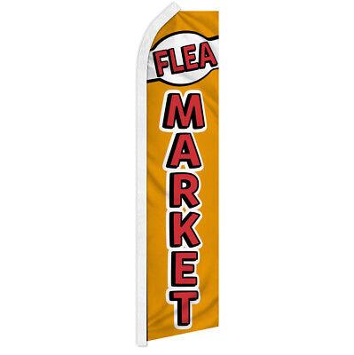 Flea Market Swooper Flag Advertising Feather Flag Swap Meet Bazaar Antiques