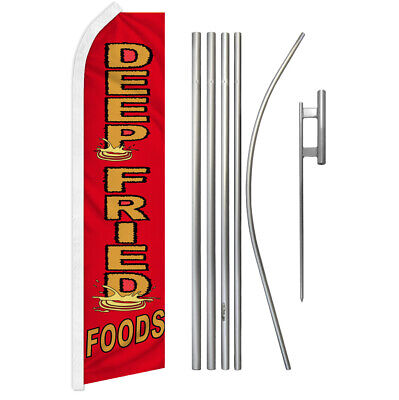 Deep Fried Food Advertising Swooper Flutter Feather Flag Kit Concessions Food