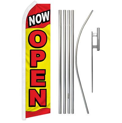 Now Open Advertising Swooper Flutter Feather Flag Kit Were Open Grand Opening