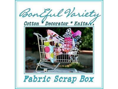 BonEful Fabric SEW VTG QUILT SCRAP Knit Cotton Decor GIRL 4H Scout Dot # 4 BOXES