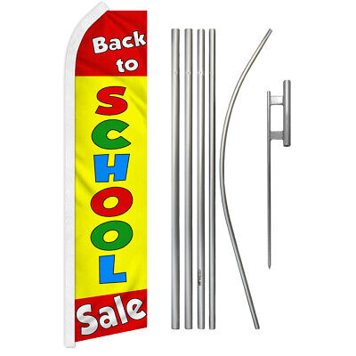 Back To School Clothing Sale (Back to School Sale Advertising Swooper Flutter Feather Flag Kit Clothing)