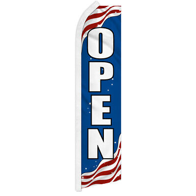 Patriotic Open Swooper Flag Advertising Flag Feather Flag Open Usa Flag