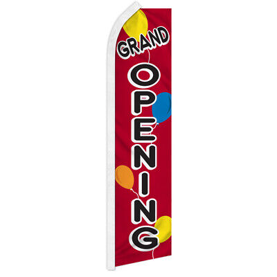 Grand Opening Advertising Flag Swooper Feather Super Flag Open Now Balloons