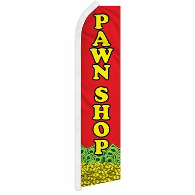 Pawn Shop Super Flag Swooper Advertising Banner Sign Jewelry Consignment Gold