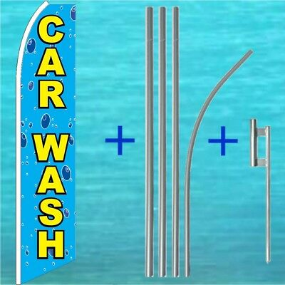 Car Wash Flutter Flag Pole Mount Kit Tall Advertising Swooper Banner Sign 1054