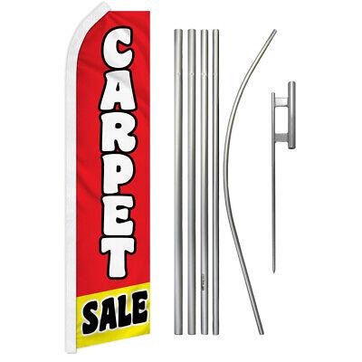 Carpet Sale Swooper Flutter Feather Advertising Flag Pole Kit Flooring Sale