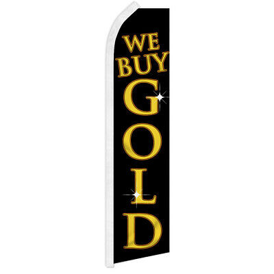 We Buy Gold Swooper Flutter Advertising Feather Flag Pawn Shop Se Compra Oro