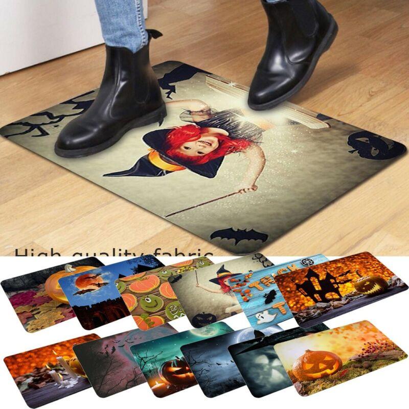 Fall Halloween Pumpkin Bathroom Kitchen Anti-Slip Floor Mat