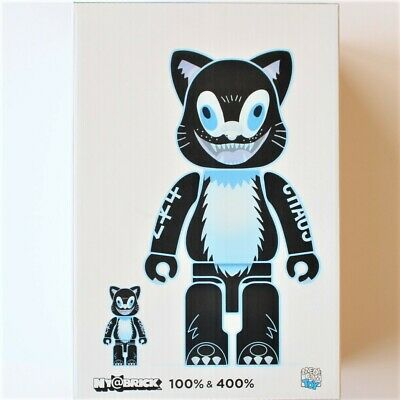 Medicom Toy NY@BRICK KIDILL CAT 100% & 400% Figure toy 2pcs set from Japan