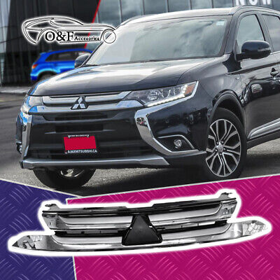 Mitsubishi Outlander Front Bumper Grille Grill Chrome fits 2017 2018 Chrome Argent Grille Grill