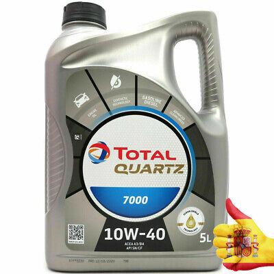 Total Quartz Sintético Coche Aceite de Motor Del 7000 Rendimiento 10W40-5L Fia