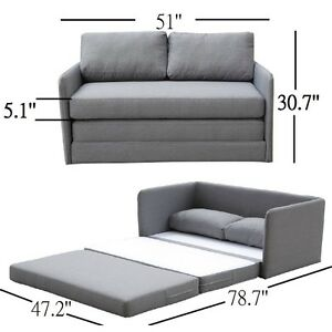 Sofa bed in grey