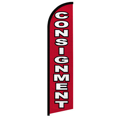Consignment Full Curve Windless Swooper Advertising Flag Thrift Store Pawn