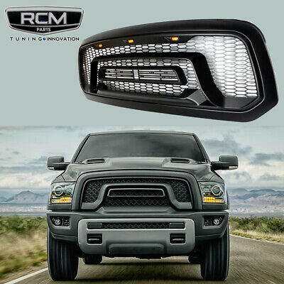 Front Grill Rebel Style and Lights Grille For Dodge Ram 1500 2013 2018