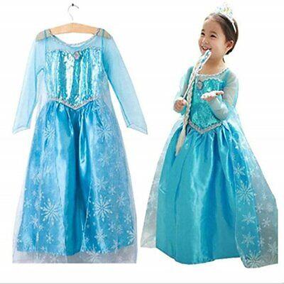 Eiskönigin Prinzessin Elsa Anna Kleid Kostüm für Kinder - Kinder Verkleiden