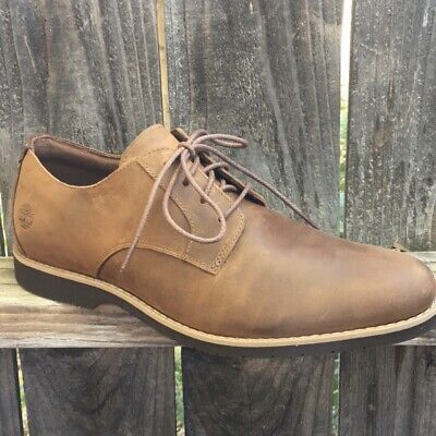 Timberland Mens Oxford Shoes 10.5 M Woodhull Brown Full Grain Leather