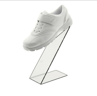 Black Slant Back Acrylic Shoe Riser Display Stand Retail 3w X 10h X 6d
