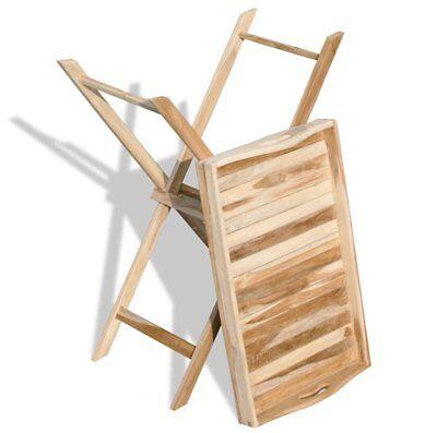 KMH® Teak Tablett Tisch Serviertisch Beistelltisch Tabletttisch Klapptisch Holz