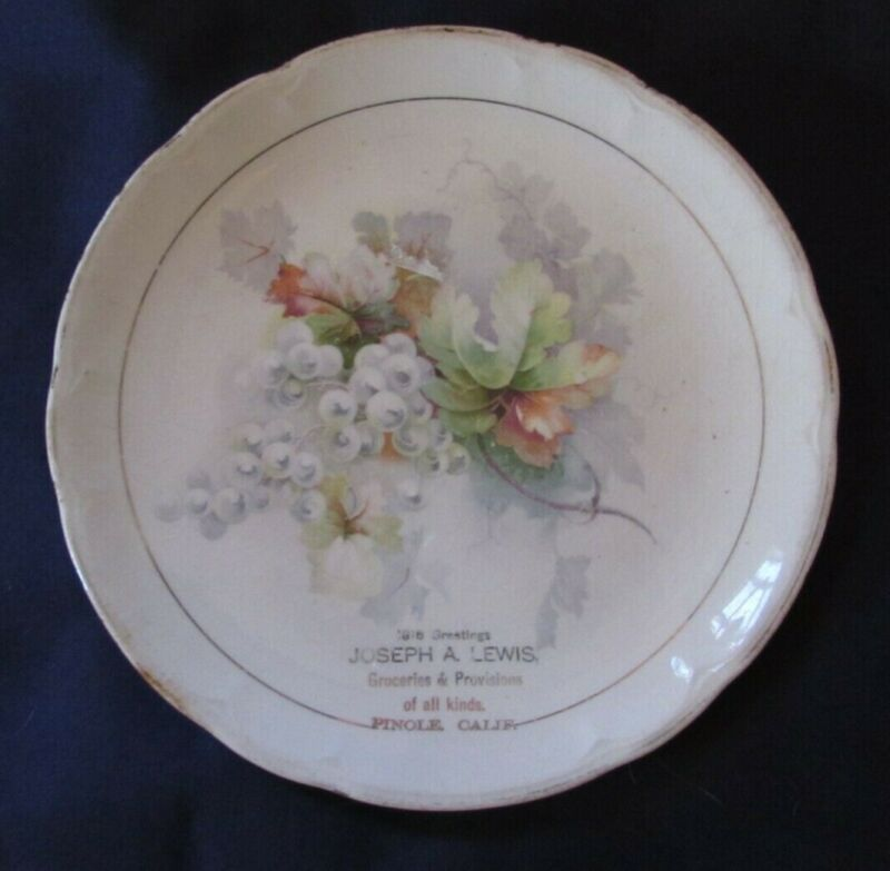 1916 Joseph A. Lewis Groceries & Provisions Pinole Calif. Plate