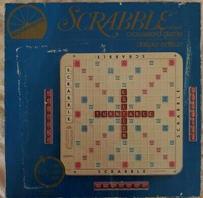 SCRABBLE Deluxe Edition 1977 Selchow & Righter Turntable NEW IN BOX