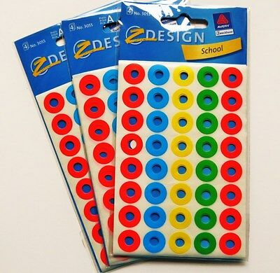 480 farbige Lochverstärker selbstklebend  Avery Lochverstärkerringe