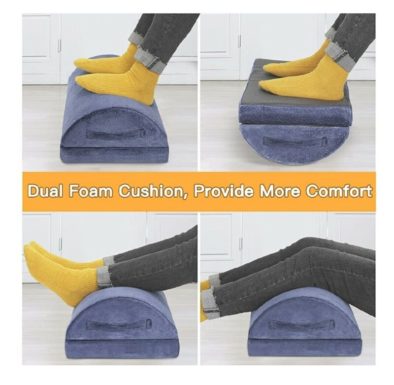 AMERIERGO Adjustable Foot Rest Foot Rest Under Desk Cushion Provide More Comfort