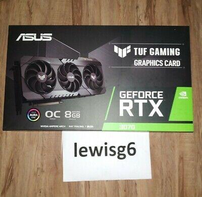 ASUS TUF Gaming GeForce RTX 3070 OC 8GB GPU Graphics Card NON LHR READY TO SHIP
