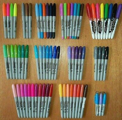 1x Sharpie Permanent Pen Ultrafinebroadfluorescentmini2-ended- 100 Choices