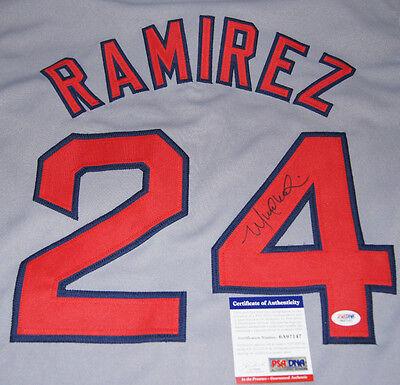 MANNY RAMIREZ SIGNED AUTOGRAPHED BOSTON JERSEY PSA/DNA