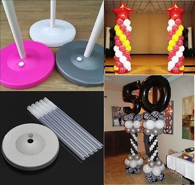 2 Sets Balloon Column Arch Base Upright Pole Display Stand Kit Wedding Party USA - Balloon Column Base