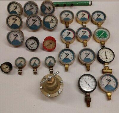 Lot Of Union Carbide Ashcroft Ish Wilkerson Linde Gas Regulator Welding Gauges
